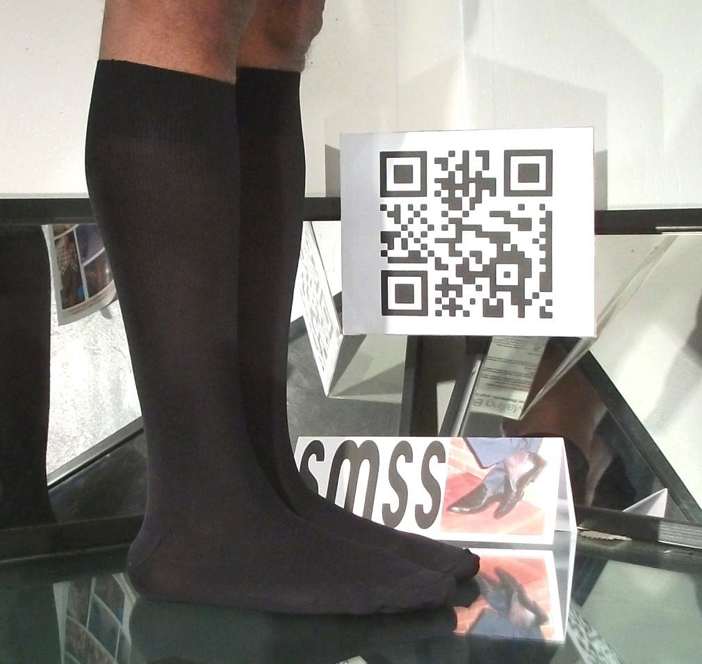 Used Mens Sheer Socks 1 x 1 Ribbed Glossy Nylon / Spandex, 10-13, OTC - C331
