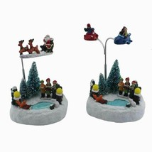 Rolling Collectible Figurine Building Choirs Led Light Music Christmas Tree - $43.99