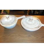 "2 Corning Ware - Blue Cornflower Menuette pans w/Lids - 1 pt & 6 1/2"" w/... - $19.79"