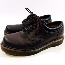 Dr. Doc Martens Mens sz 9M Brown Leather Laced Heavy Rubber Sole Oxfords - $37.04