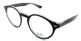 Ray-Ban Rx Eyeglasses Frames RB 5376 2034 49-21-140 Top Black on Transparent - $91.92
