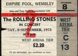 ROLLING STONES Rare ticket stub. Empire Pool,Wembley,Sept 8,1973 - $44.55