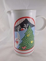 """Vintage Christmas Pitcher 7"""" Twas the Night Before Christmas Epoch 8100 ... - $15.83"""
