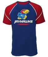 NCAA Kansas Jayhawks Men's Contrast Stitch Tee, XX-Large, Royal/Red - $14.95