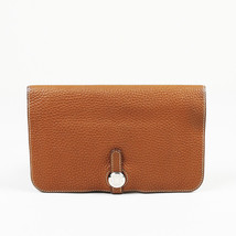 "Hermes ""Dogon Duo Combined"" Gold Clemence Leather Wallet - $1,160.00"