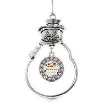 Inspired Silver Angry Mummy Circle Snowman Holiday Christmas Tree Ornament With  - €12,87 EUR