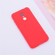 Color Matte Phone Cases For Xiaomi Redmi / Case Silicone Soft (Red) - $14.99