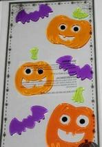 Halloween     PURPLE BATS & JACK O' LANTERNS     Gel Clings    NIP - $2.84