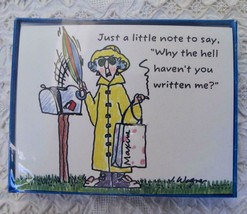 NIP Vintage 8 Hallmark Maxine Note Cards Why the He** Haven't You Writte... - $9.99