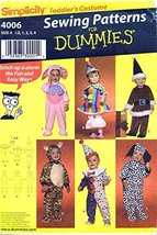 Simplicity 4006 Toddlers Costumes Sewing Pattern - $13.72