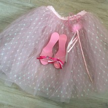 PRINCESS Pink GLITTER TUTU SHOES & WAND - $28.71