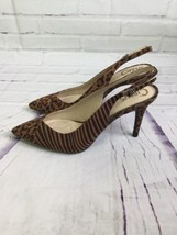 Circus by Sam Edelman Brown Cheetah Slingback Pumps Heels Micro Suede Size 6 - $48.25