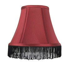 Urbanest Silk Bell Lamp Shade, 5-inch by 9-inch by 7-inch, Burgundy with... - $17.81