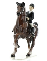 Hagen-Renaker Specialties Ceramic Figurine Dressage Horse with Rider