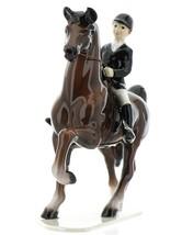 Hagen-Renaker Specialties Ceramic Figurine Dressage Horse with Rider image 1