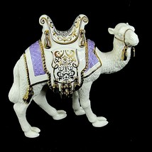 "Lenox Camel First Blessing Nativity 7"" Porcelain Figurine 760384 Purple Rug - $247.50"