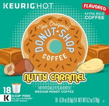 The Original Donut Shop Nutty Caramel Coffee 18 to 90 K cup Pods Pick Any Size  - $19.99+