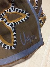 Vintage 60s Vera Neumann Fall Design sheer rectangular scarf image 3