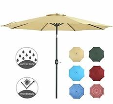 Patio Watcher 9 Feet Umbrella Outdoor With Push On Ti