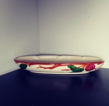 Franciscan Apple Relish Dish Oval Bowl Apples - $10.00