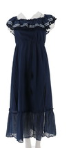 Vince Camuto Ruffled Off-the- Shoulder Maxi Dress High Tide 3X NEW A308796 - $93.04