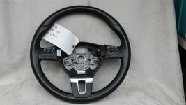 09 - 17 Volkswagen CC Eos Golf 3-Spoke Multifunction Steering Wheel Blck Leather image 1