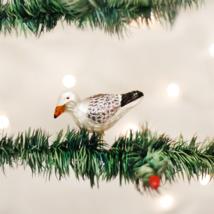 OLD WORLD CHRISTMAS SEA GULL BIRD CLIP-ON GLASS CHRISTMAS ORNAMENT 18037 - $8.88