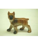 Old Vintage Bone China Boxer Dog Figurine Mini Shadow Box Shelf Decor Japan - £5.06 GBP
