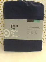 Made by Design Solid Easy Care TWIN/XL TWIN  BLUE AMETHIST - SEALED NEW!