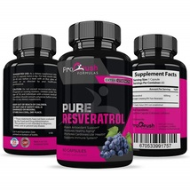 Pure Resveratrol- Natural Red Wine Antioxidant Supplement. Supports Hear... - $96.99