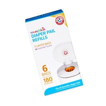 Munchkin Arm & Hammer Diaper Pail Snap with Seal and Toss Refill Bags, 6... - $11.96