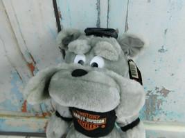"Vintage Play By Play Harley Davidson Bulldog Biker Plush 12"" Stuffed Toy - $11.87"