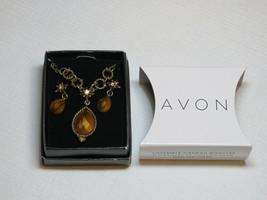 Mujer Avon Imitación de Tigre Ojo Collar y Pendientes Set de Regalo F366... - $21.30
