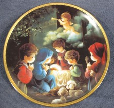 Come Let Us Adore Him Collector Plate Precious Moments Bible Story Sam B... - $14.95
