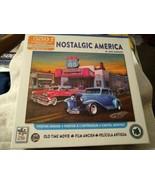 Nostalgic America Greg Giordano 550 pc Puzzle 24 x 18 Old Time Movie Car... - $17.82
