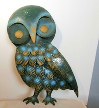 "Vintage Metal Owl Wall Sculpture 16 x 13"" Hong Kong Facing Left - $22.00"