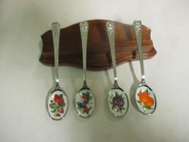 1982 Avon Collector Spoons Set of 4   Raspberries,Plum,Orange,Strawberry... - $17.81