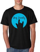 Men's T Shirt Deaf Friendly Deaf Awareness ASL Support Acceptance - $17.94+