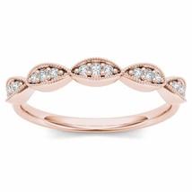 Genuine 10K Rose Gold 0.12 Ct Brillant Diamond Wedding Band - $239.99