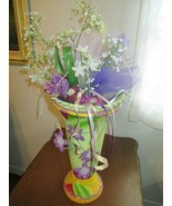 GIFT FLOWER VASE TALL COLORFUL - $8.91