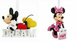 Mickey Minnie Mouse Dream & Polka Dot Dress Disney Hallmark Christmas O... - $38.69