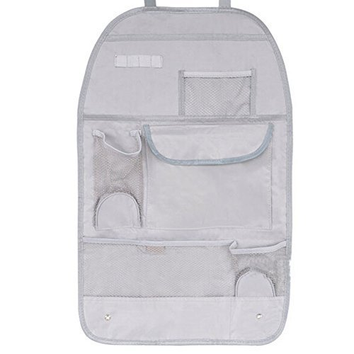 Auto Parts Car Seat Back Organizer Storage Bag,GRAY