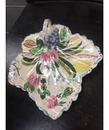 Blue Ridge China Leaf Shape Celery Handle Tray Dishware Serving Dining K... - $25.05