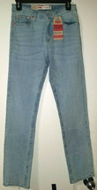 LEVI'S 502 Girl's L Blue Regular Fit Taper Stretch Jeans Size 14 W27 L27... - $31.68