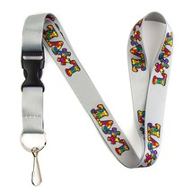 Autism Awareness Love Puzzle Lanyard Keychain and ID Holder with Detacha... - $7.99