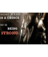 WORKOUT MOTIVATION BEING WEEK POSTER 24 x 36 INCH | MUSCLE WORKOUT | BODY TONE - £15.83 GBP