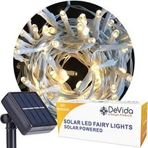 DeVida Warm White Solar String Light on White Cord, Hassle Free 100 LED ... - $34.41