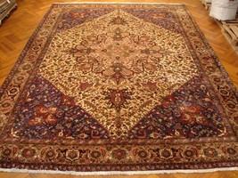 Geometric 11' x 16' Ivory - Pink Heriz Handmade Persian Rug Mount Sabala... - $6,154.50