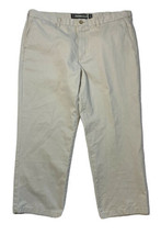 NWT Mens Size 42 X 30 (Meas 42 X 29) Khaki Straight Leg Pants Flat Front  - $17.81