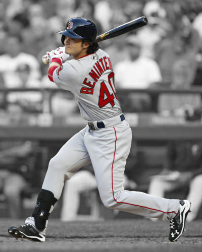 Primary image for Andrew Benintendi Boston Red Sox SFOL Vintage 11X14 Color Baseball Photo